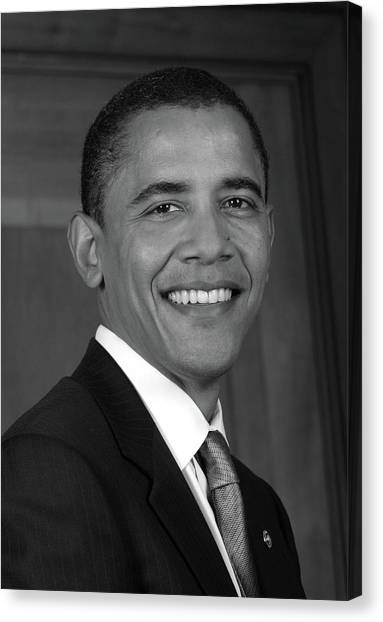 Obamacare Canvas Print - Barack Obama As Us Senator - 2005 by War Is Hell Store