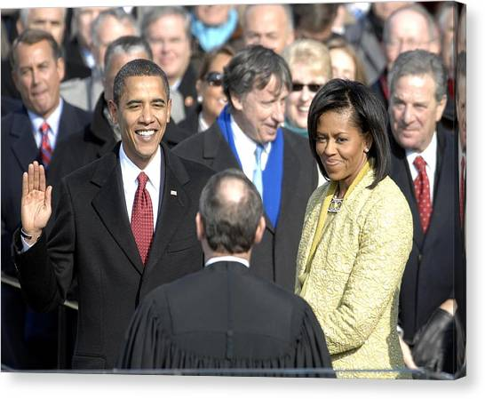Bswh052011 Canvas Print - Barack Obama Is Sworn In As The 44th by Everett