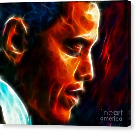 Barack Obama Canvas Print - Barack Obama by Pamela Johnson