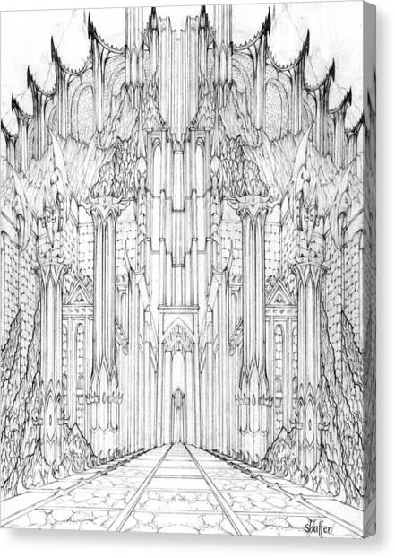 Barad-dur Gate Study Canvas Print