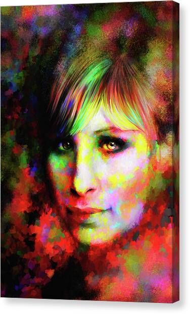 Barbara Streisand Canvas Print