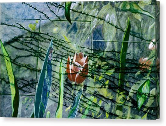 Barbed Vine Canvas Print by Nancy  Ethiel