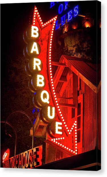 Smokehouses Canvas Print - Barbeque Smokehouse by Mark Andrew Thomas
