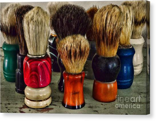 Ward Canvas Print - Barber - Shaving Brush Collection by Paul Ward