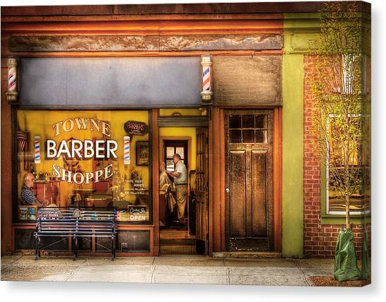 Barber - Towne Barber Shop Canvas Print