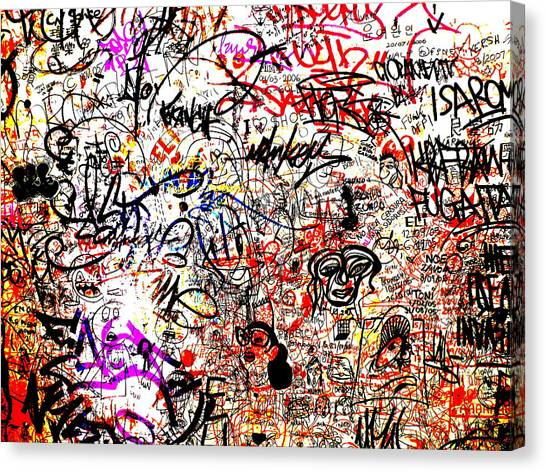 Graffiti Walls Canvas Print - Barcelona Graffiti Heaven by Funkpix Photo Hunter