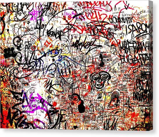Graffiti Walls Canvas Print - Barcelona Graffiti Heaven by Funkpix Photo Hunter
