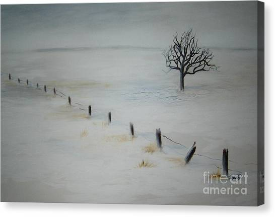 Bare Tree Canvas Print by Vivian  Mosley