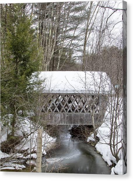 Bare-walker Covered Bridge  Canvas Print