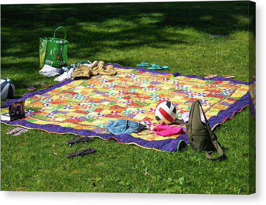Barefoot In The Grass Canvas Print