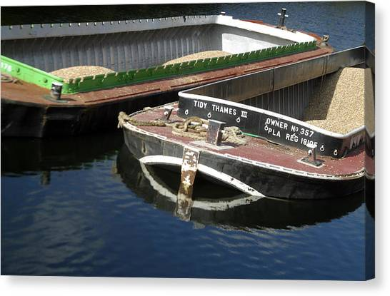Barge Love Canvas Print by Jez C Self