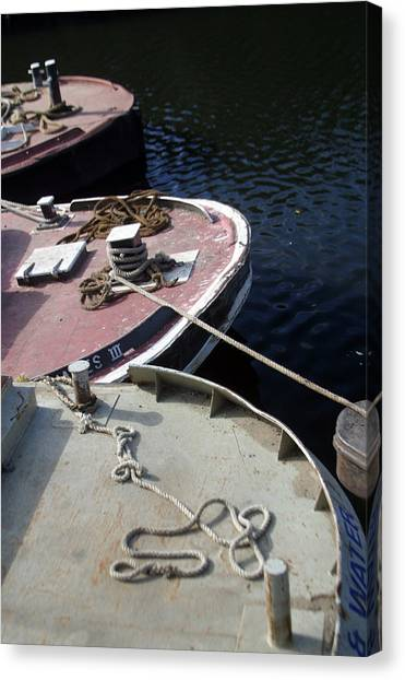 Barging Forward Canvas Print by Jez C Self