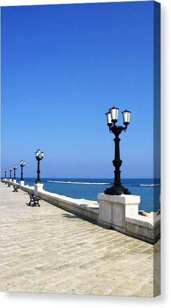 Bari Waterfront Canvas Print by Rob Tullis