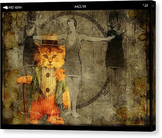 Canvas Print featuring the digital art Barker by Delight Worthyn