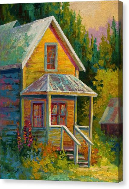 Historic House Canvas Print - Barkerville Orphan by Marion Rose