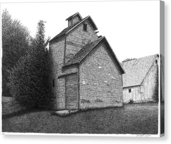Old Mill Scenes Canvas Print - Barn 18 by Joel Lueck