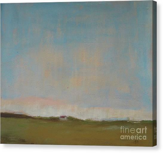 Prairie Sunrises Canvas Print - Barn At Dusk by Vesna Antic