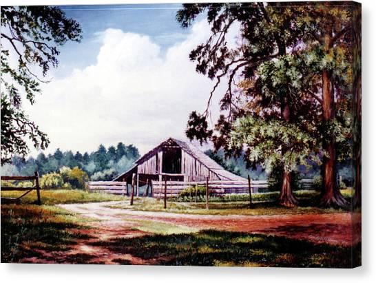 Barn At Honey Island Canvas Print