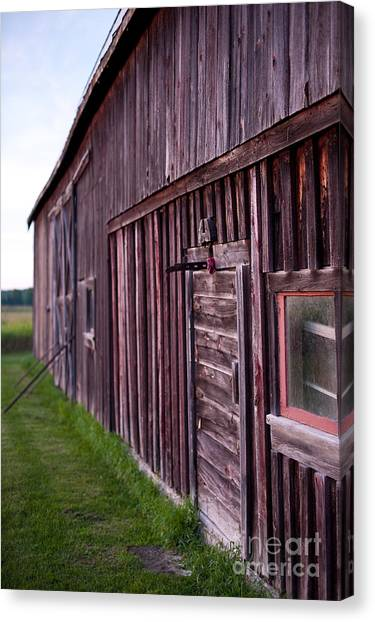 Barn Door Small Canvas Print