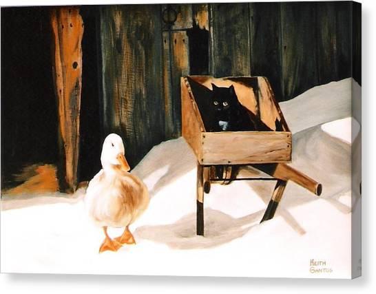 Barn Fellows Canvas Print