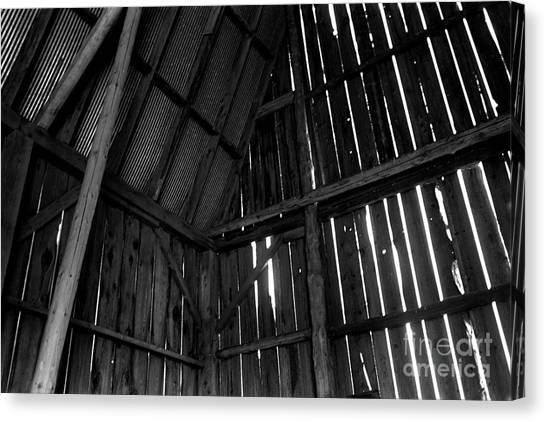 Barn Inside Canvas Print