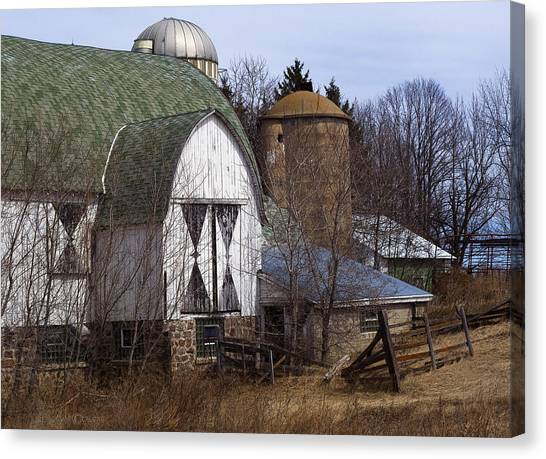 Barn On 29 Canvas Print