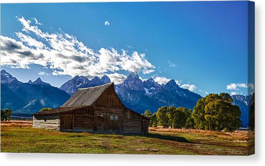 Barn On Mormon Row Canvas Print