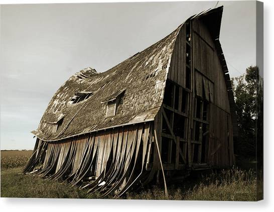 Barn On The Move Canvas Print