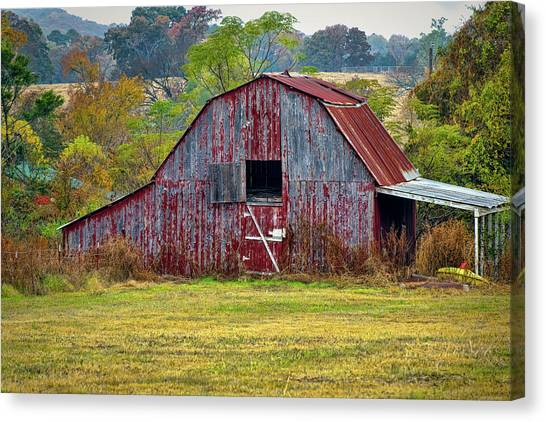 Barn On White Oak Road 2 Canvas Print