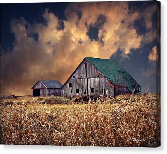 Barn Surrounded With Beauty Canvas Print