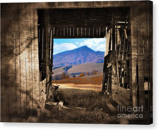 Barn With A View Canvas Print by Kathy Jennings