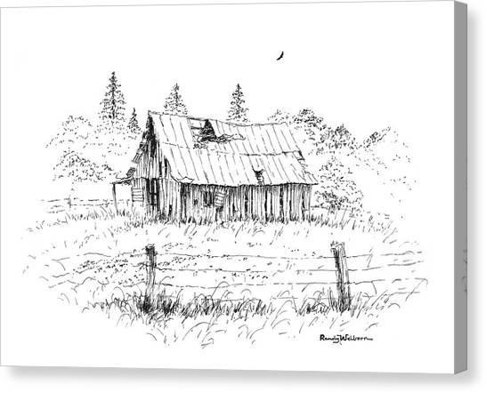 Barn With Skylight Canvas Print