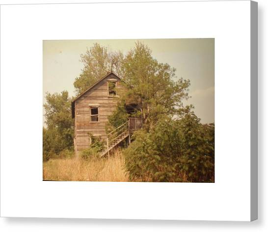 Barn Wood Homestead Canvas Print by Hal Newhouser