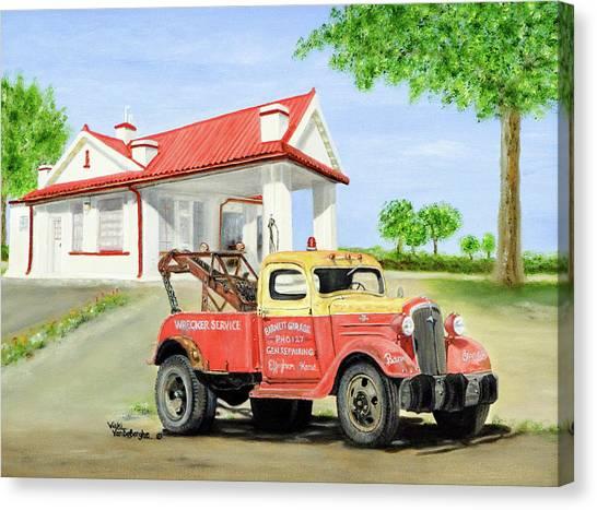 Barnett Garage Canvas Print