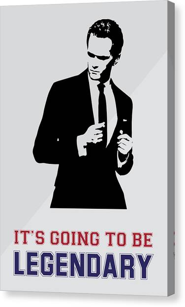 Barney Stinson Poster How I Met Your Mother - It's Going To Be Legendary Canvas Print
