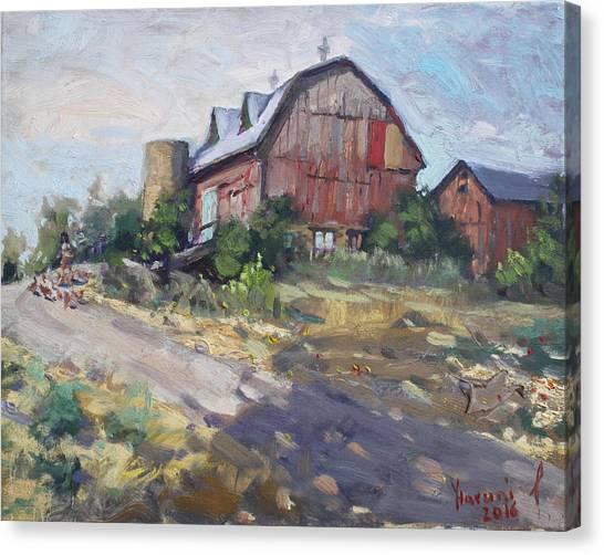 Georgetown Canvas Print - Barns In Georgetown by Ylli Haruni