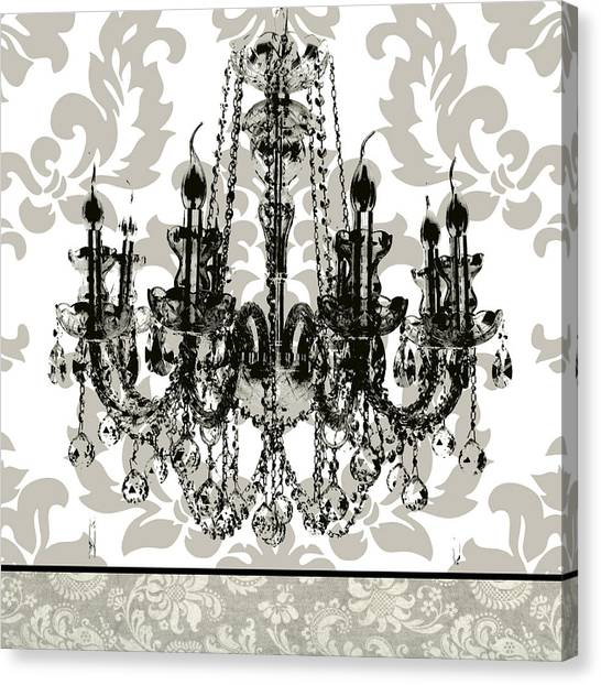 Baroque Art Canvas Print - Baroque Chandelier 2 by Carol Robinson