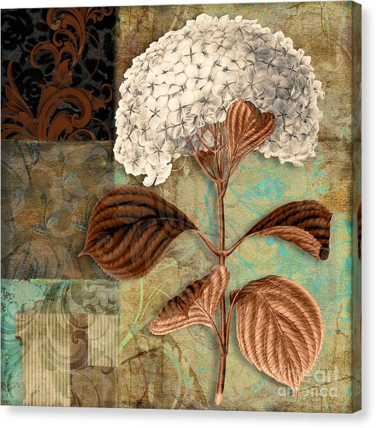Baroque Art Canvas Print - Baroque Hydrangea Patchwork by Mindy Sommers