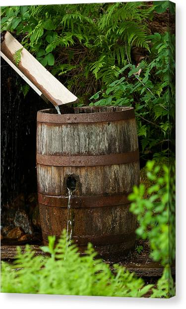 Barrel Of Water Canvas Print