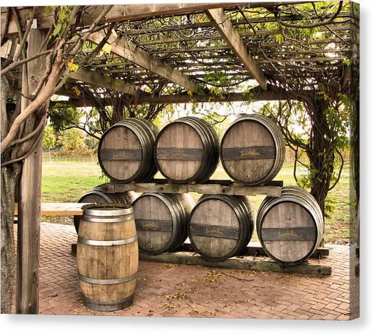 Wine Barrels Canvas Print - Barrel by Super Lovely
