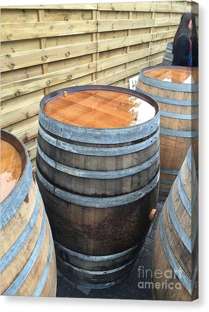 Craft Beer Canvas Print - Barrels In Belgium by Evan N