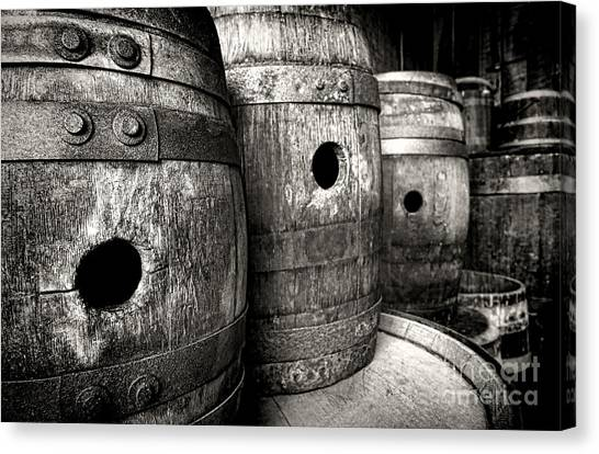 Warehouses Canvas Print - Barrels Of Laugh Past  by Olivier Le Queinec