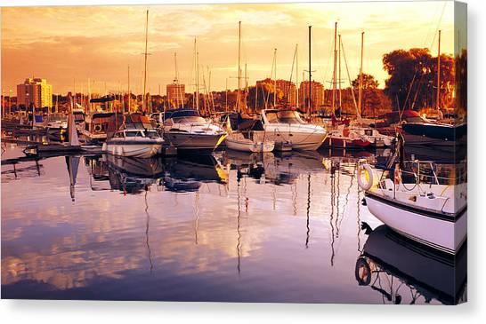 Barrie Marina Sunrise Canvas Print