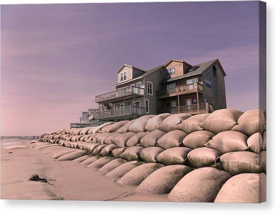 Flooding Canvas Print - Barrier Island Migration  by Betsy Knapp