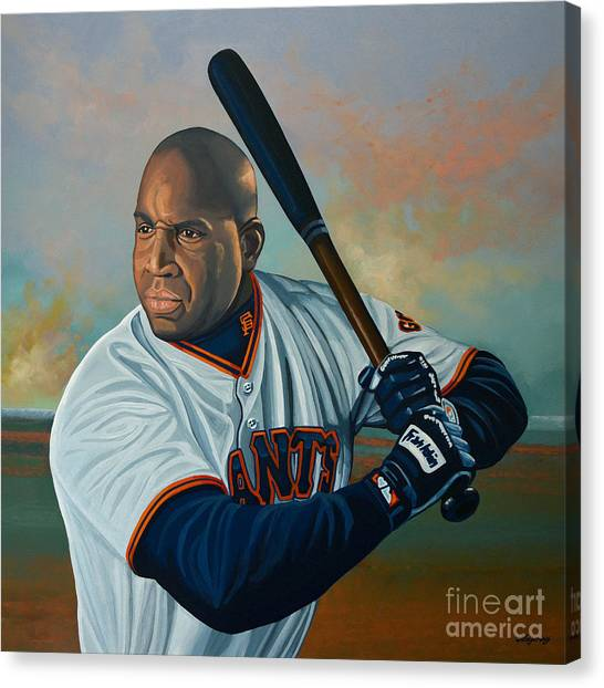Baseball Players Canvas Print - Barry Bonds by Paul Meijering
