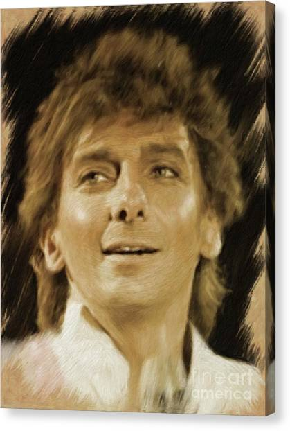 Stardom Canvas Print - Barry Manilow, Music Legend by Mary Bassett