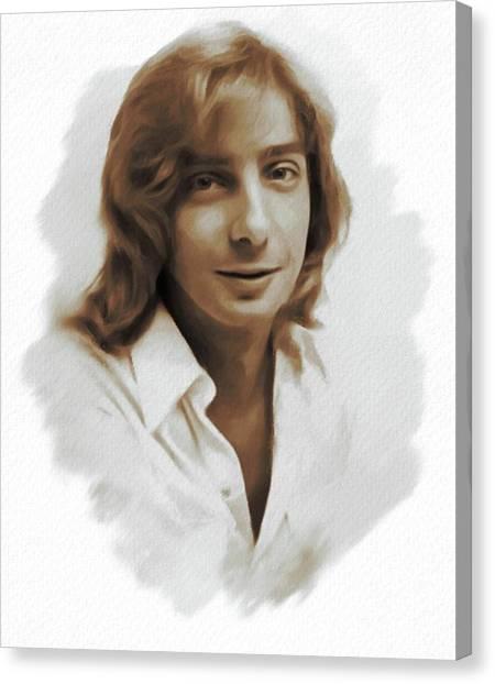 Stardom Canvas Print - Barry Manilow, Singer by Mary Bassett
