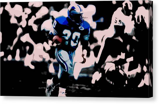 Jerry Rice Canvas Print - Barry Sanders 17a by Brian Reaves