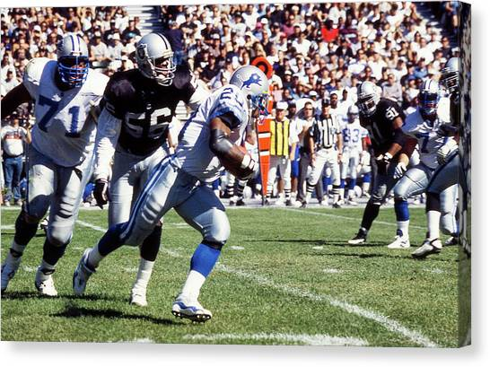 Barry Sanders Canvas Print - Barry Sanders by Positive Images
