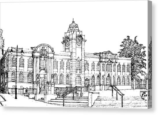 Barry Town Hall And Library Canvas Print